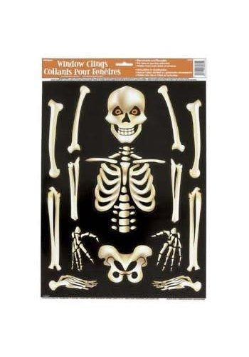 Raamstickers Skelet - 43 x 30 cm
