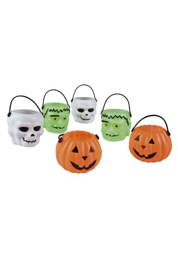Set 6 Halloween emmertjes 3 ass. - 6 x 6 cm