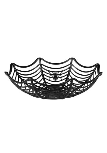 Halloweenmandje Spinnenweb - 27 cm
