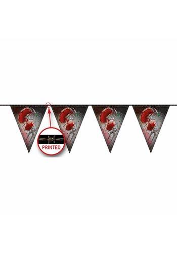 Vlaggenlijn Bloody Halloween - 10 mtr