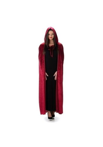 Red Hooded Cape- One Size