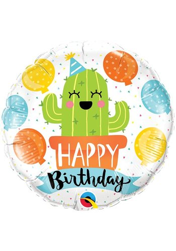 Folieballon Birthday Party Cactus - 46cm