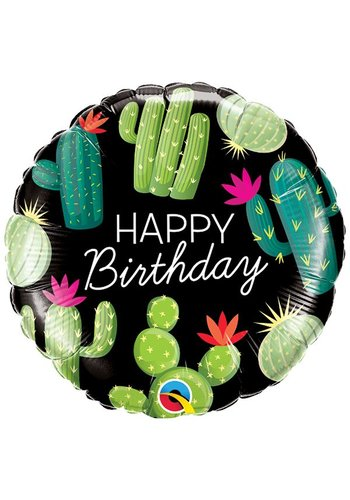 Folieballon Birthday Cactuses - 46cm