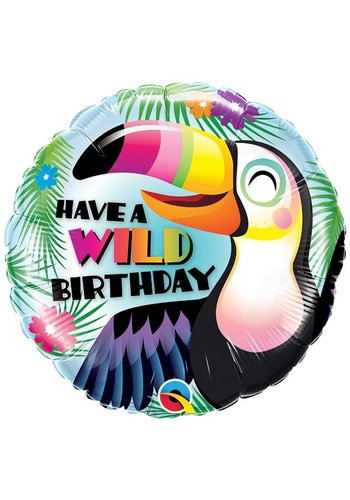 Folieballon Wild Birthday - 46cm