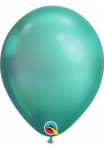 Heliumballon Green Chrome (28cm)