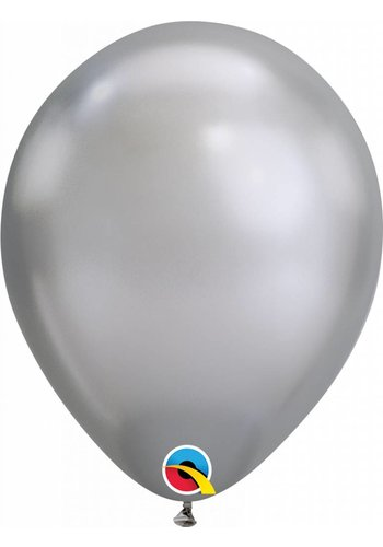Heliumballon Silver Chrome (28cm)
