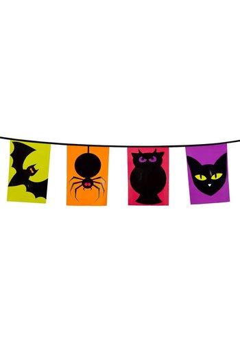Vlaggenlijn vierkant Halloween - 6 meter