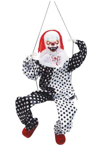 Kicking Clown on Swing - 70x30cm
