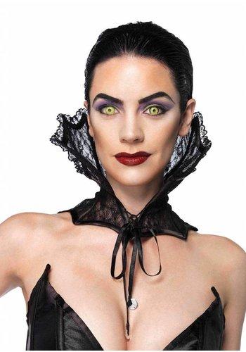 Lace Collar Corset - Black