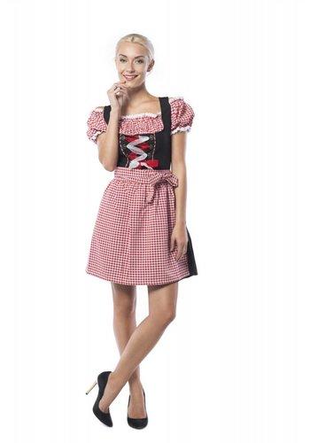 Dirndl Anne-Ruth - Rood/Zwart