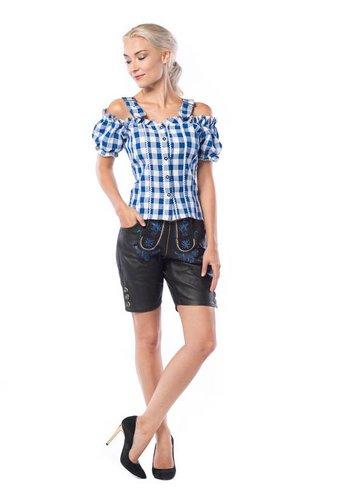 Lederhose Charlotte Black Leder Short
