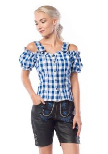 Mandy Top Blauw/Wit