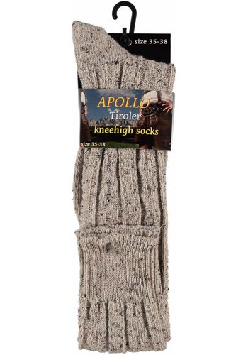Tiroler sokken Heren - Beige