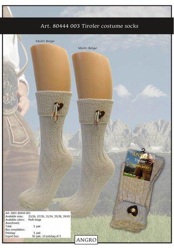 Tiroler sokken Dames met accessoire - 39-42