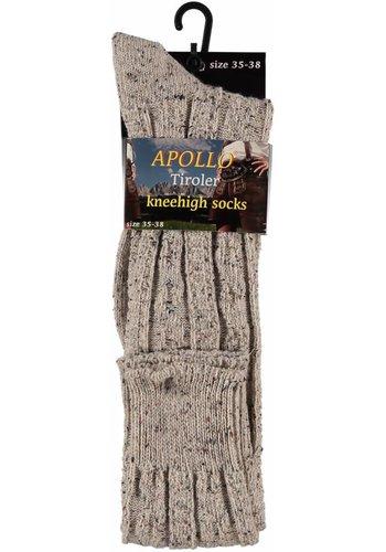 Tiroler sokken Heren - Grijs