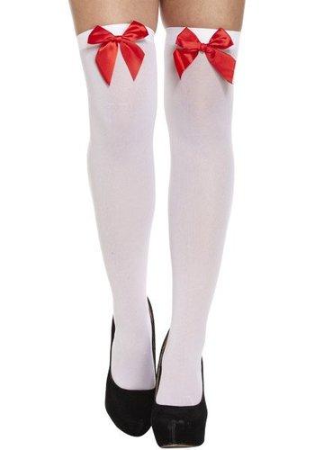 Dirndl Kousen Wit Met Rode strik