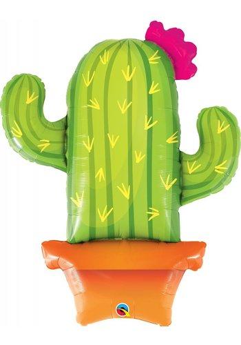 Folieballon Cactus in pot - 99 cm