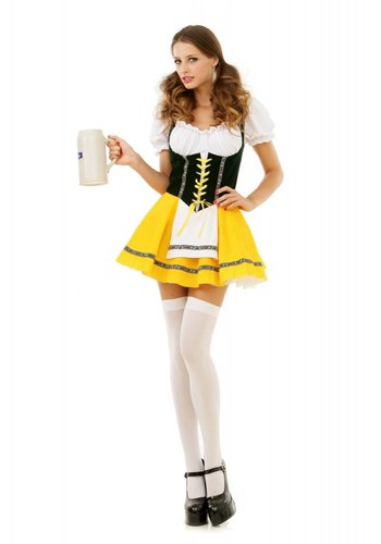 Dirndl Jurkje - Yellow Beer Girl