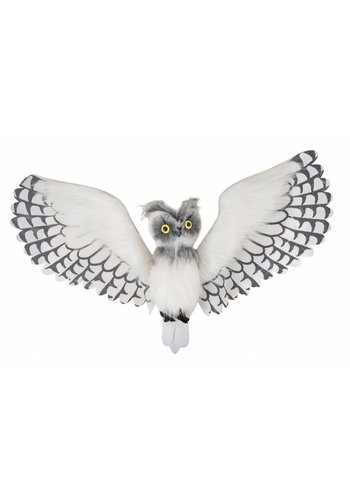 Feather white owl - 1 meter
