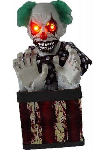 Animated clown in box - 28 x 20 x 43 cm