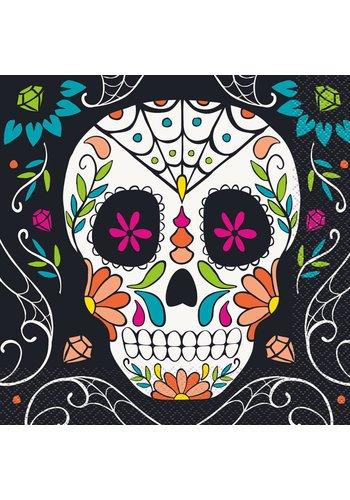 Napkins - Skull day of the dead -