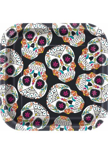 Plates - Skull day of the dead - 10 stuks - 18x18cm