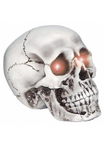 Realistic foam skull with light up eyes -