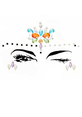 Elora Face Jewels Sticker