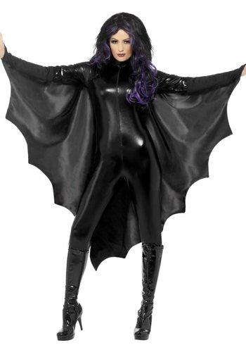 Vampire Bat Wings - Black - met Kraag