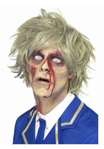 Zombie Pruik - Grijs