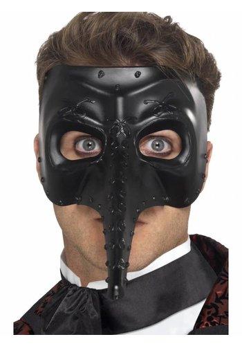 Venetian Gothic Capitano Mask - Zwart