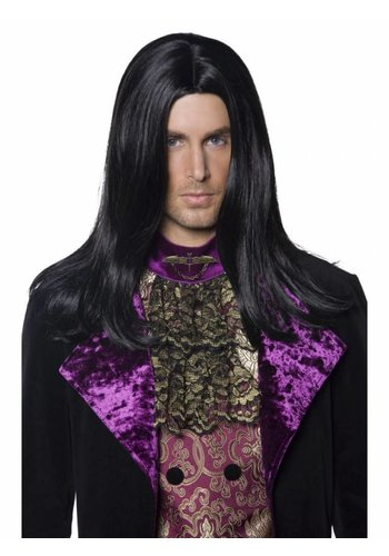 Gothic Count Wig - Black - Long & Straight