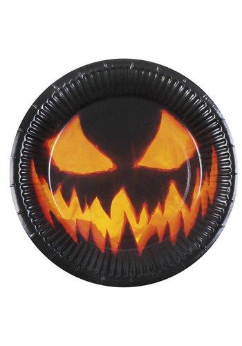 Set 6 Bordjes Creepy Pumpkin - 23 cm