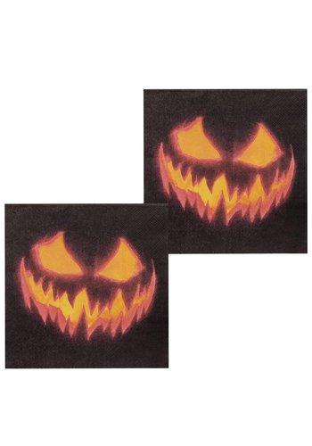Set 12 Servetten Creepy Pumpkin - 33 x 33 cm