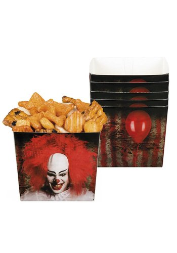Set 6 Bakjes Horror clown - 40 cl