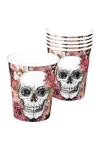 Bekertjes Day of the dead - 250 ml - 6 stuks