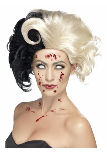 Evil Madame Wig, Deluxe, Black & Blonde