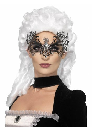Oogmasker Black Widow Web - Metal Filigree