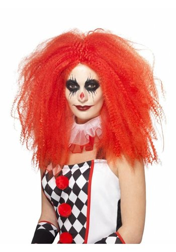 Clown Wig - Rood - Crimped