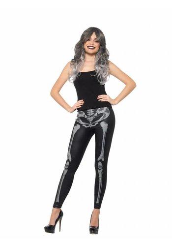 Skeleton Leggings, Black & White
