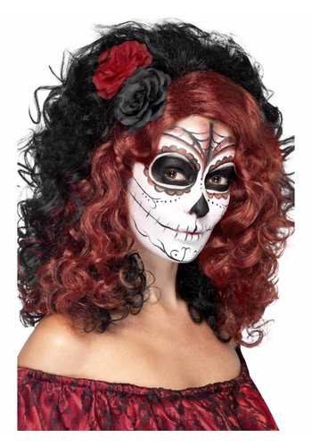 Pruik Day of the Dead met Rozen