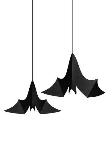 Decoratie Swirls Hangende Vleermuizen 3 st. (47, 37, 31 cm.)