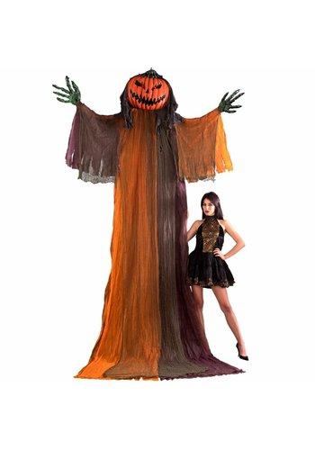 Hanging Giant Pumpkin Monster met lichtgevende ogen