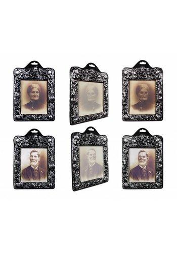 Holografisch fotolijstje Horror portret 2 ass. - 26x20cm - per stuk