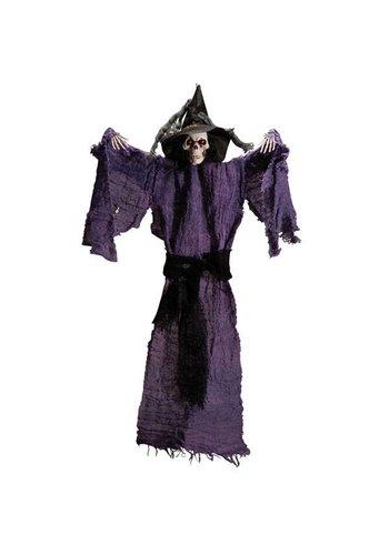 Purple Hanging Skeleton - 65 CM