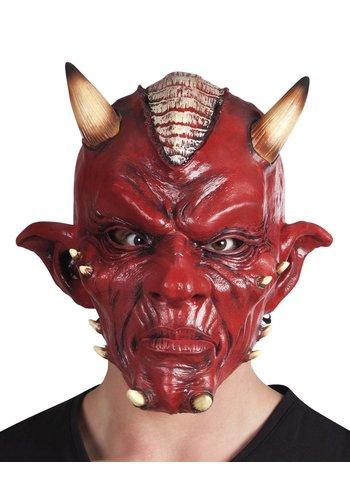 Latex hoofdmasker Duivel de luxe