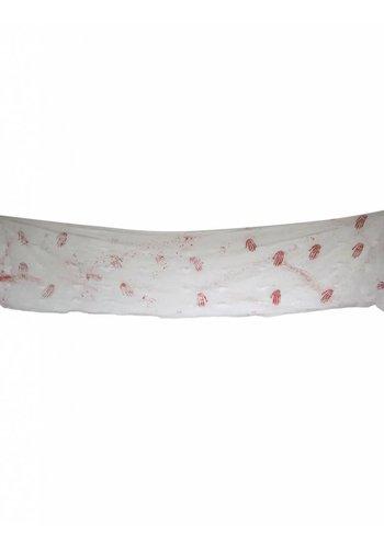 Wanddoek Bloederige Handen - 4 mtr