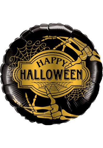 Folieballon Happy Halloween Skelet - 45cm