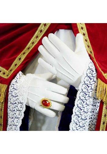 Handschoenen wit katoen dik luxe