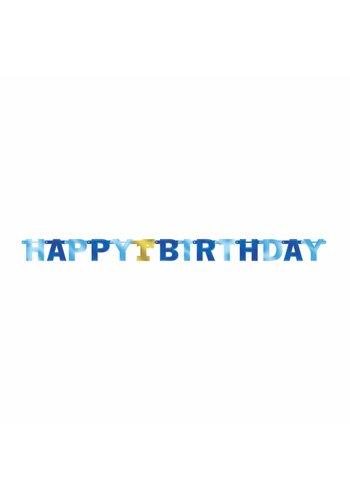 Letter Banner 1st Birthday Blue